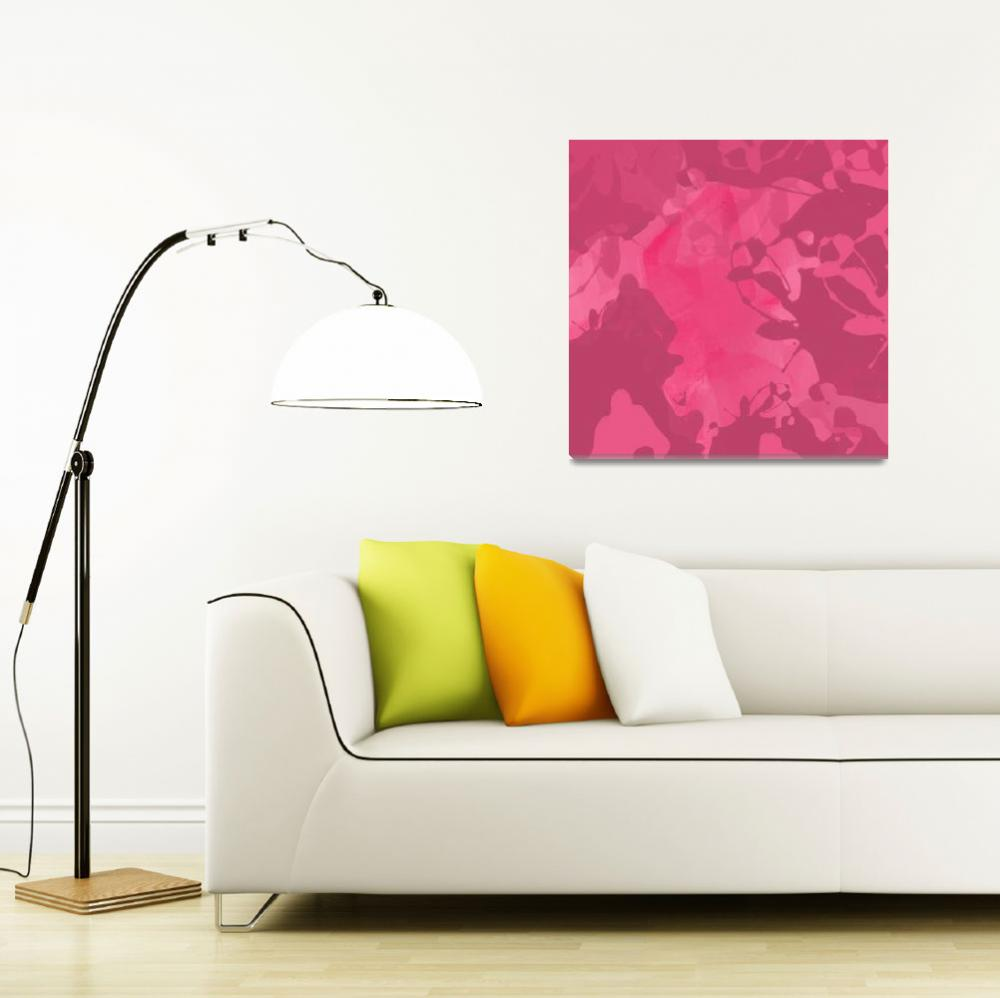 """ORL-718 Rose Abstract Painting II&quot  by Aneri"