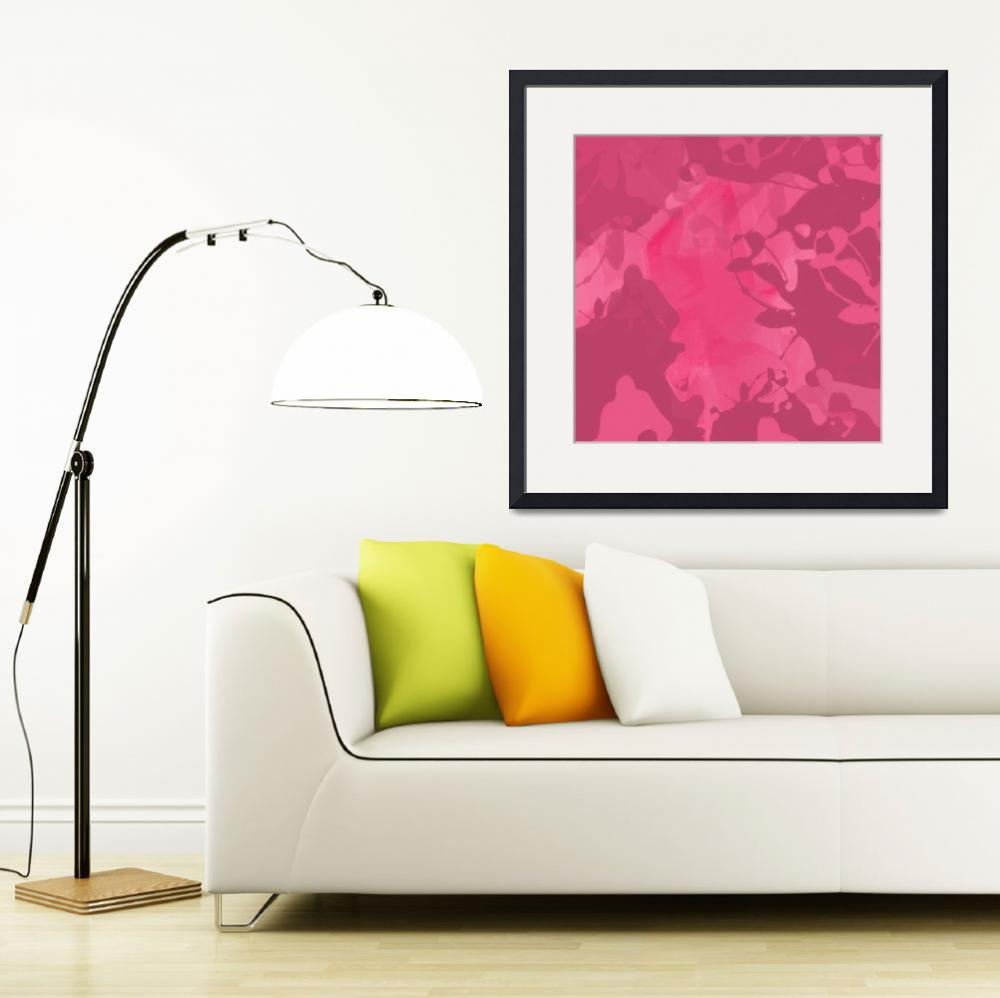 """""""ORL-718 Rose Abstract Painting II""""  by Aneri"""