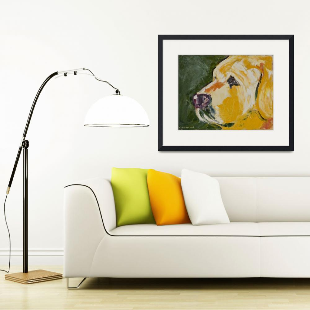 """""""Dogs - Dog, Yellow - Labs&quot  (2008) by KarinLauria"""