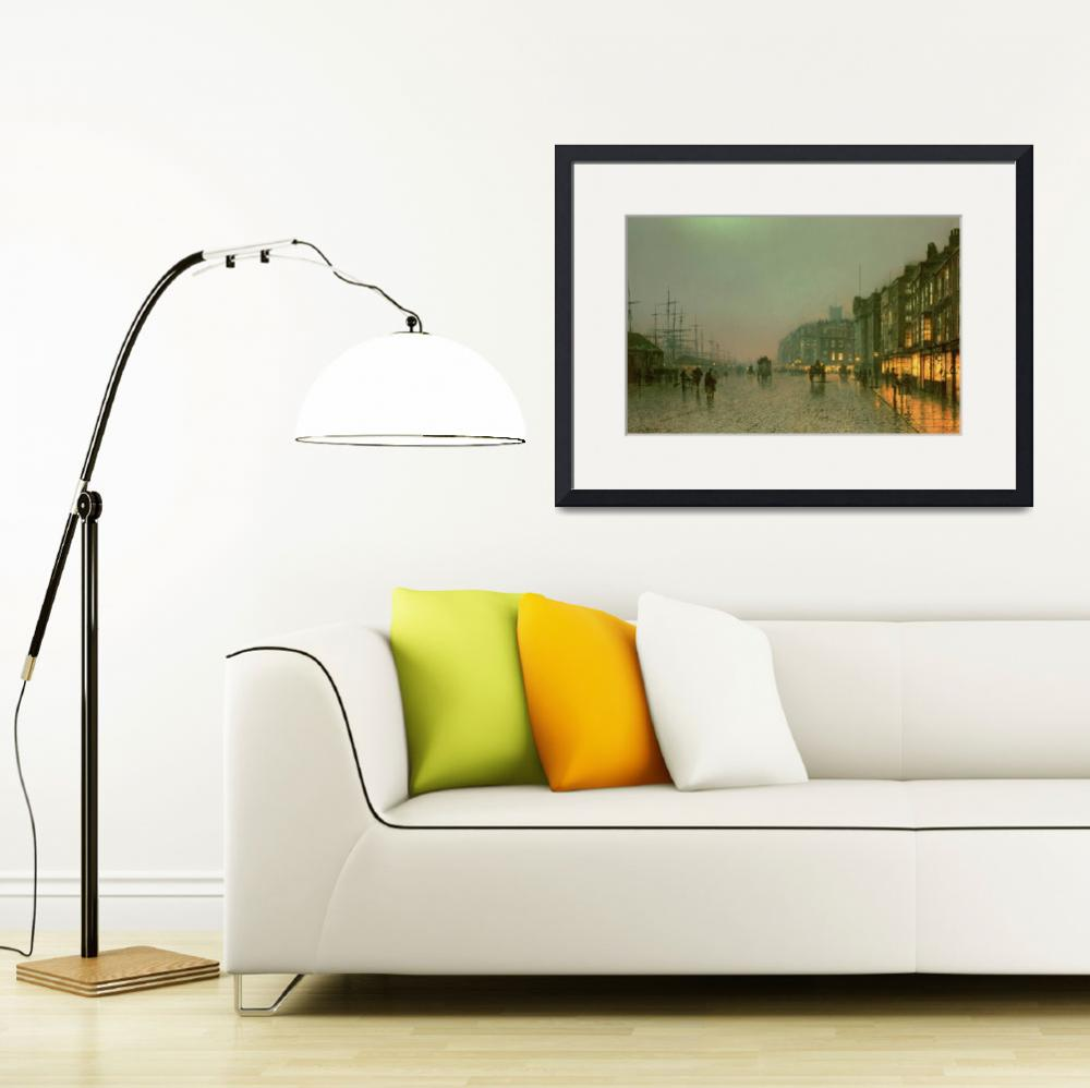 """""""Liverpool Docks from Wapping by John A. Grimshaw&quot  by fineartmasters"""