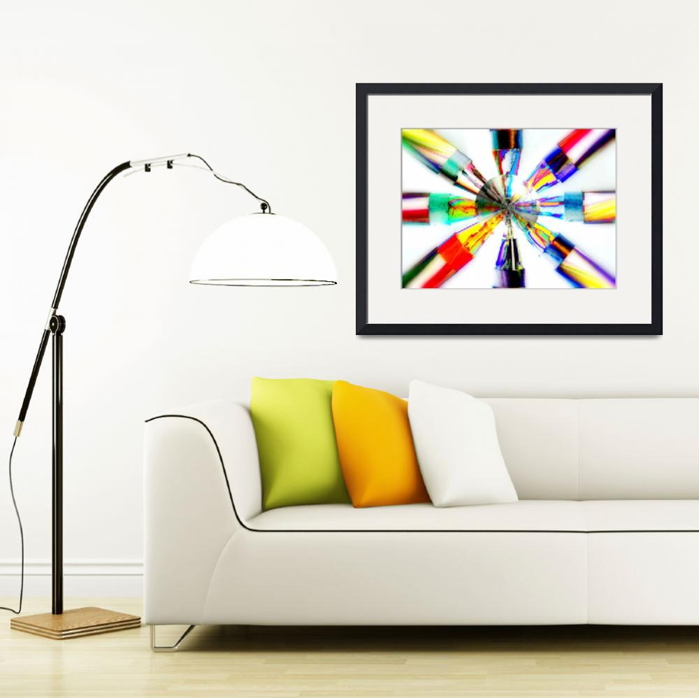 """""""COLOR WHEEL OF BRIGHT CRAYONS FINE ART PHOTOGRAPHY&quot  (2012) by nawfalnur"""