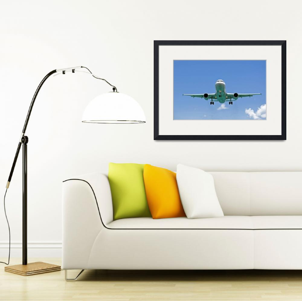 """Air transportation: passenger airplane.""  by FernandoBarozza"