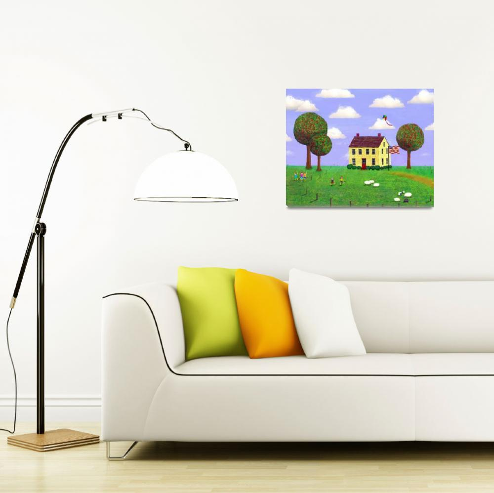 """""""Stone House in Summer&quot  (2009) by Paullittle"""