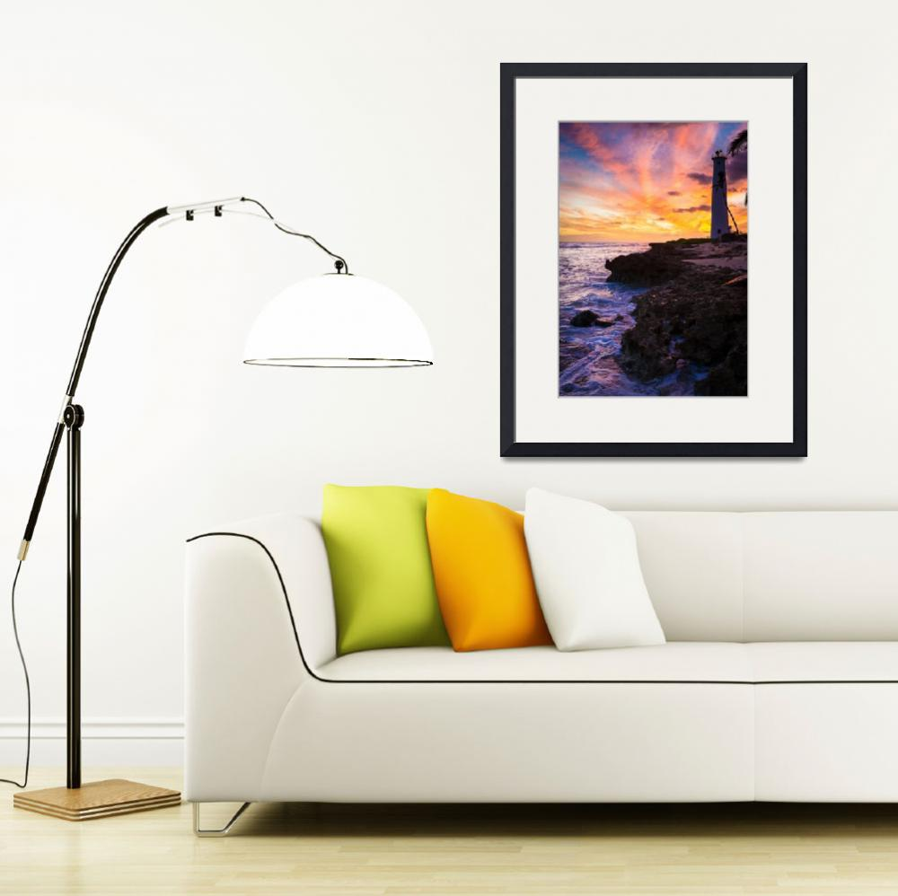 """Oahu Lighthouse&quot  (2012) by Inge-Johnsson"