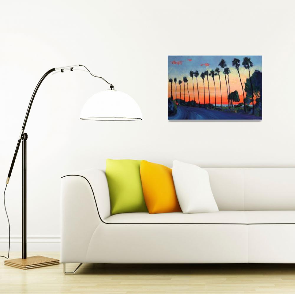 """La Jolla Sunset San Diego&quot  (2010) by RDRiccoboni"