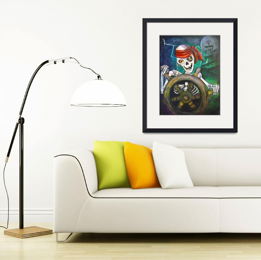 """""""Pirate Moon&quot  (2010) by ArtPrints"""