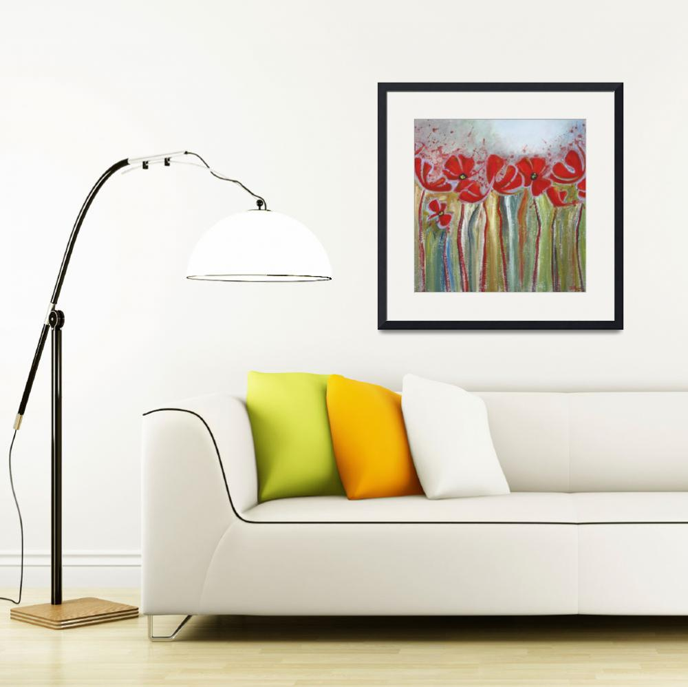 """""""Blushing Poppies&quot  (2010) by DreamGallery"""