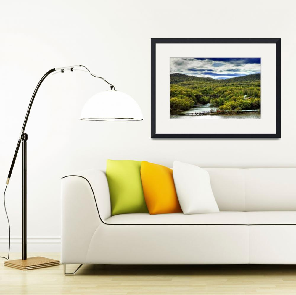"""""""Autumn Scene in Early Spring in Bear Mountain Regi&quot  by New-Yorkled"""