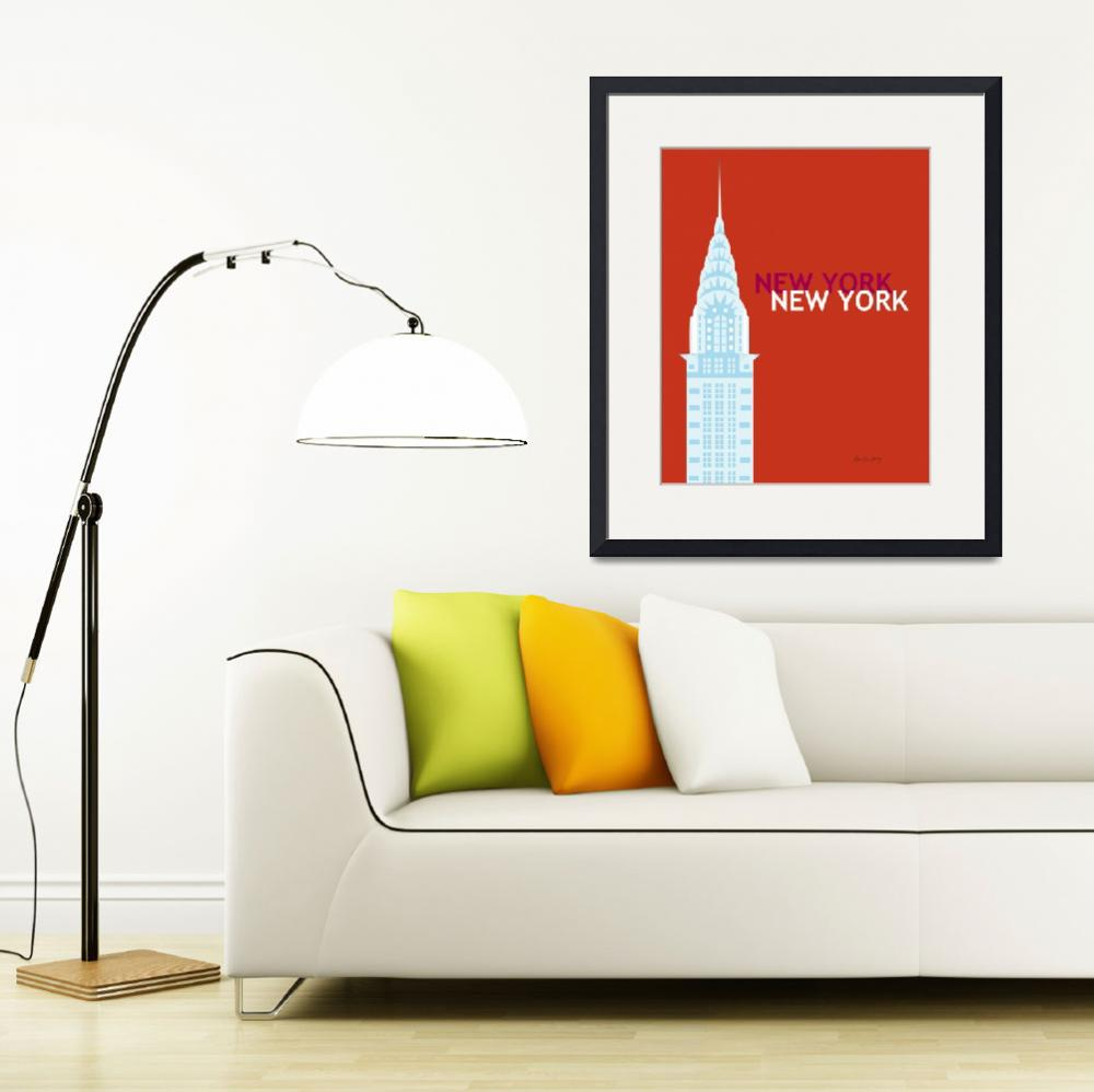 """""""New York City, New York - Chrysler Building&quot  (2011) by loosepetals"""
