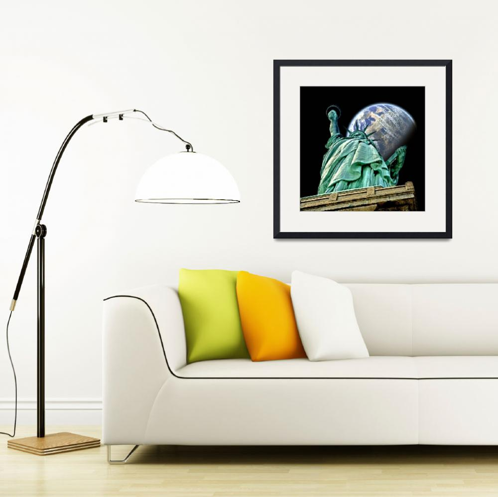 """Statue of Liberty in Space""  (2009) by New-Yorkled"