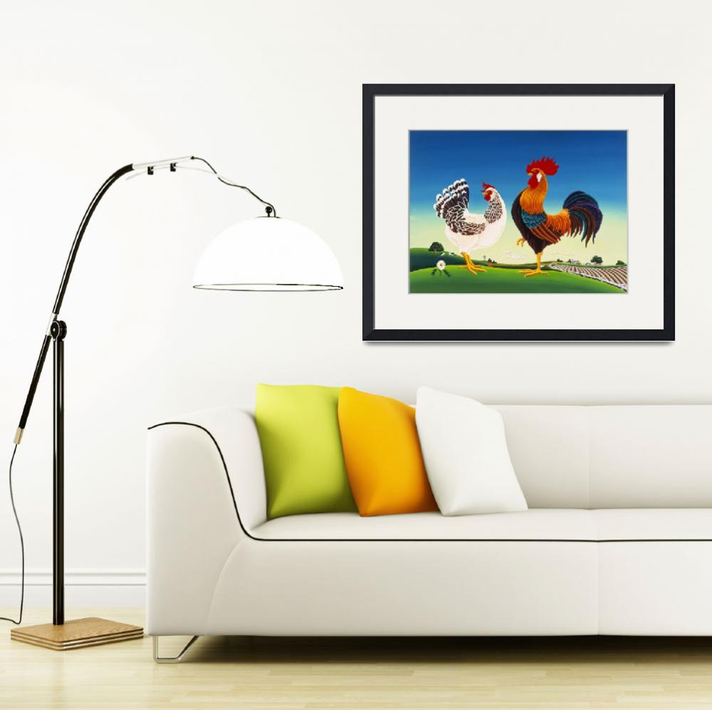 """""""Country Chickens&quot  by delRio"""