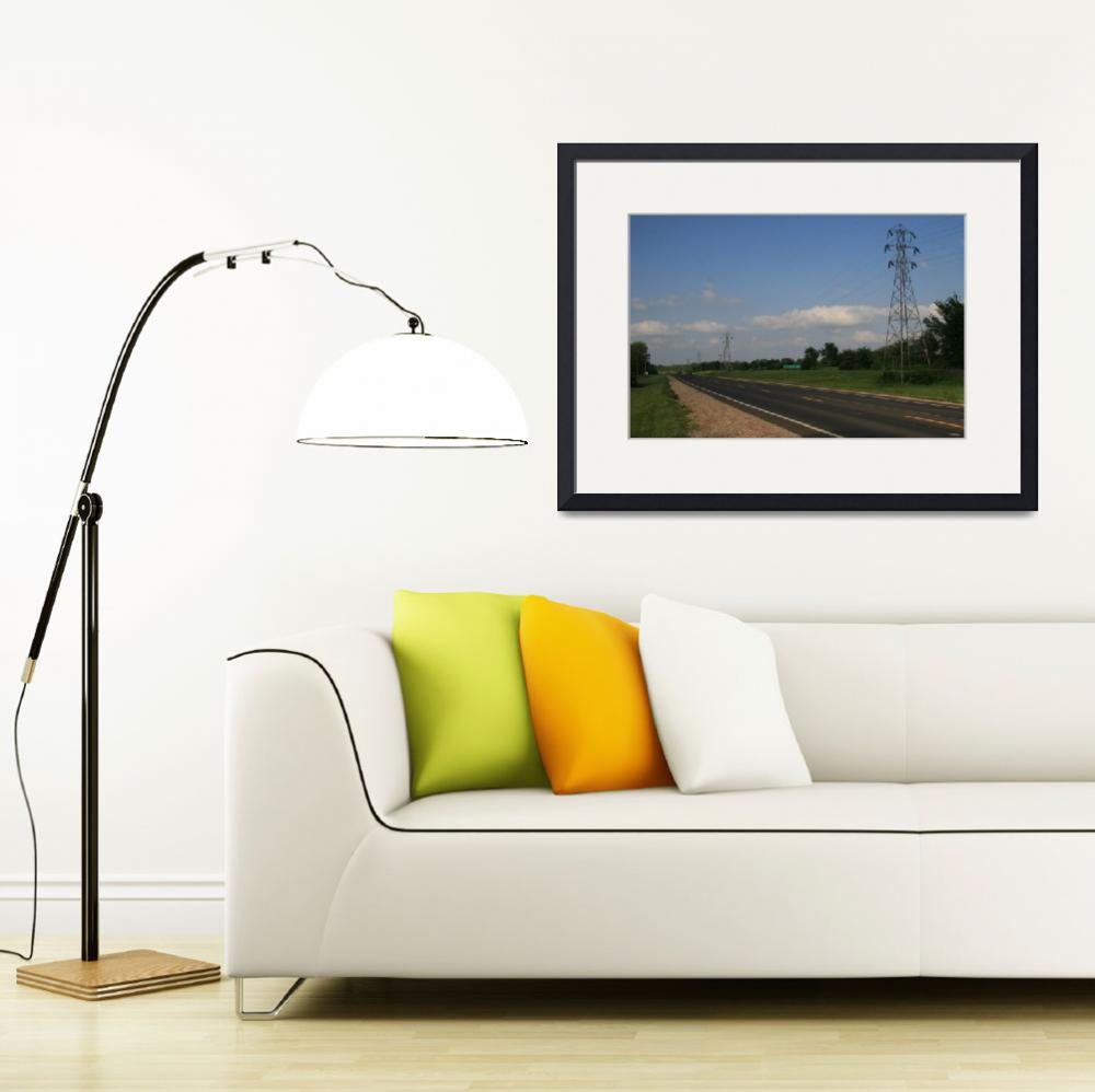"""""""Topeka-Atchison-Transmission Line Landscape&quot  (2006) by TheElectricOrphanage"""