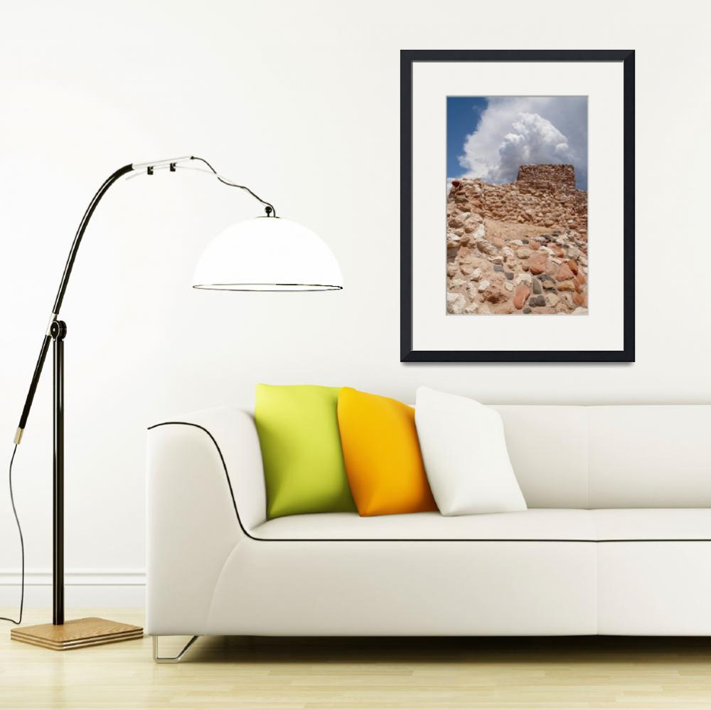 """""""Storm Building over Ancient Ruins&quot  (2008) by MichaelStephenWills"""