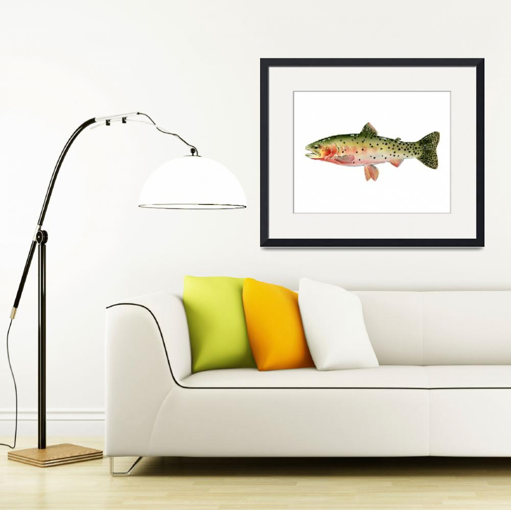 """""""Cutthroat Trout&quot  (2016) by k9artgallery"""