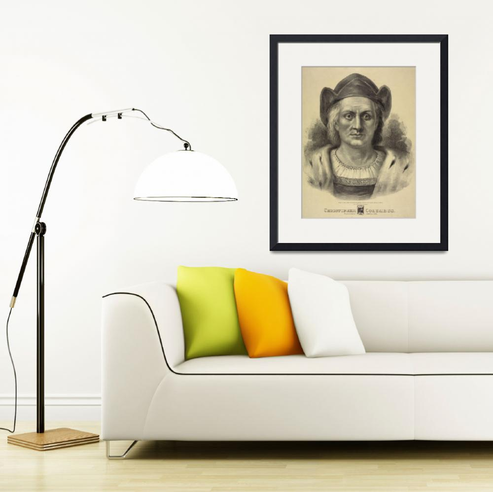 """""""Vintage Christopher Columbus Portrait (1892)""""  by Alleycatshirts"""