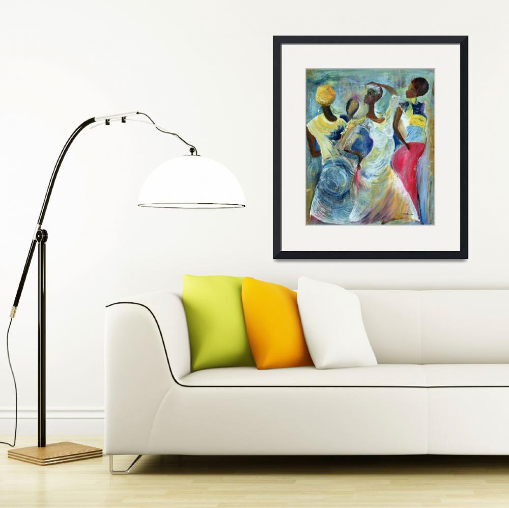 """""""Sister Act, (acrylic on canvas) by Ikahl Beckford""""  by fineartmasters"""
