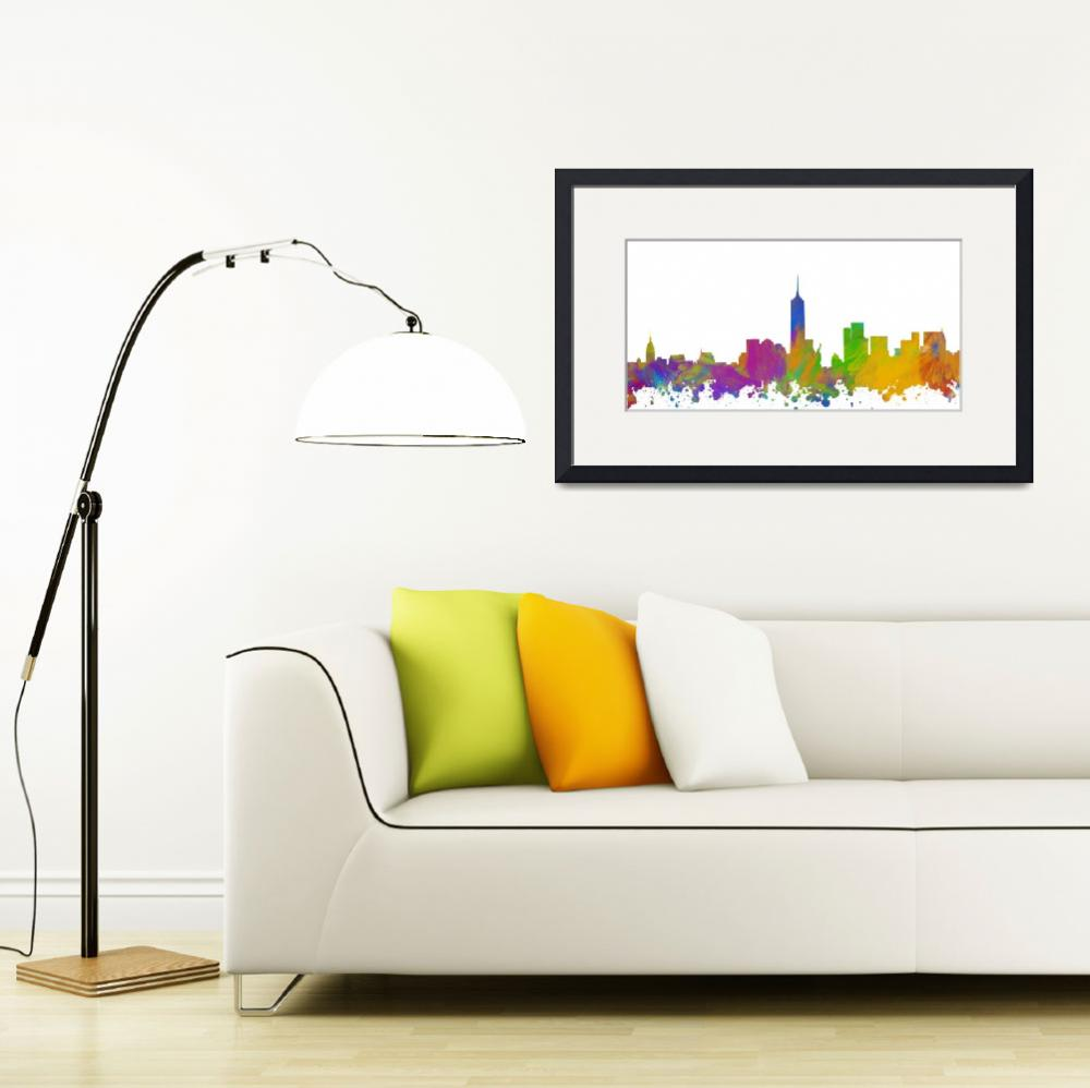 """New York City Skyline Silhouette I&quot  (2018) by palmsrick"