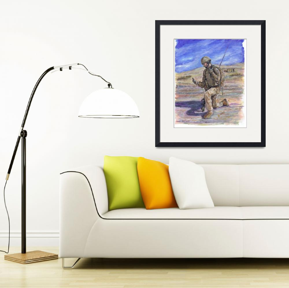 """""""British Soldier Helmand Afghanistan&quot  (2011) by phils-art"""