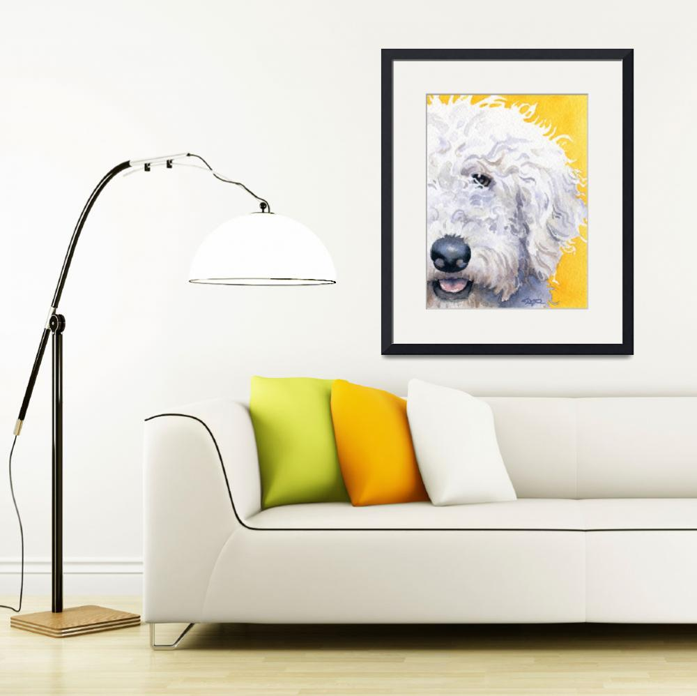 """""""Labradoodle White""""  (2013) by k9artgallery"""