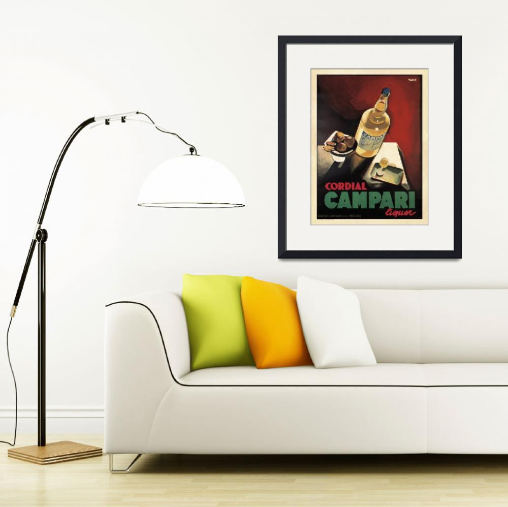 """""""Vintage Advertising Poster - Cordial Campari&quot  by artlicensing"""