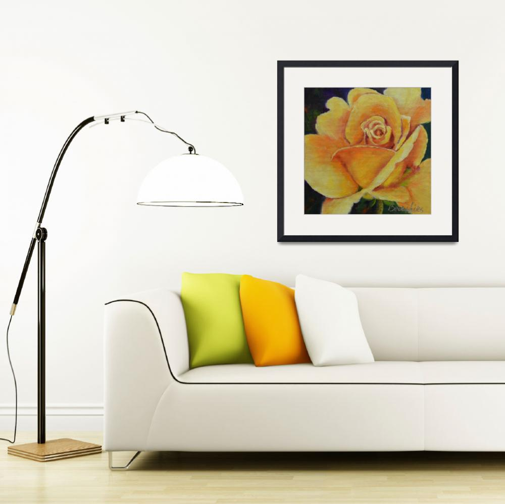 """Yellow Rose of Texas""  (2013) by Beckyhicksfineart"