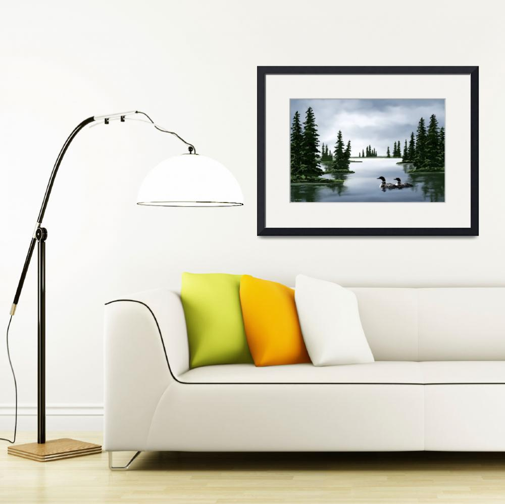 """""""Common Loon Print&quot  by waterart"""