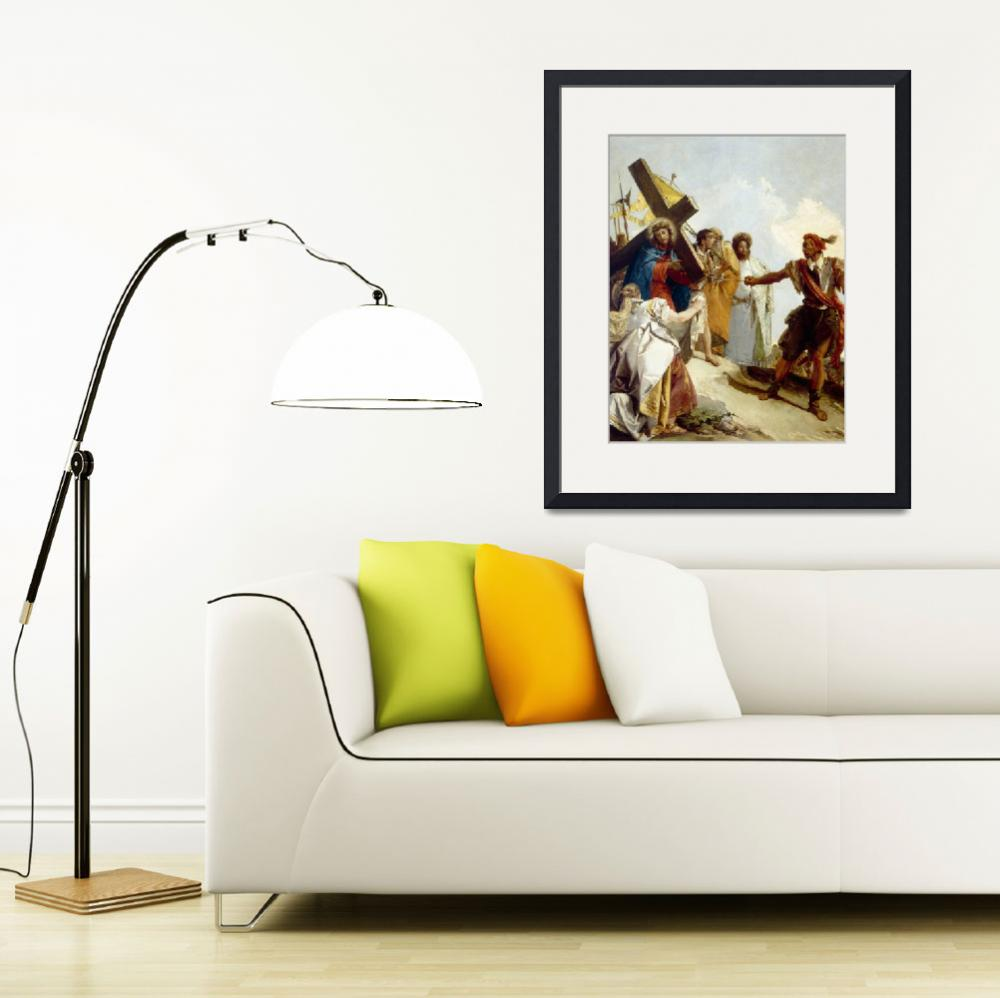 """""""Christ Carrying the Cross, Stations of the Cross,""""  by fineartmasters"""