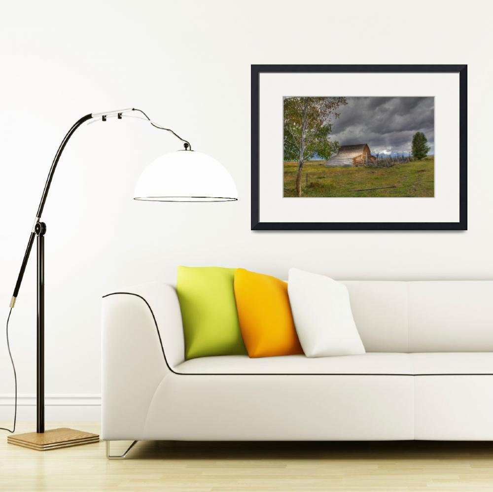 """""""Storm Clouds over Moulton Barn""""  (2010) by last_light"""