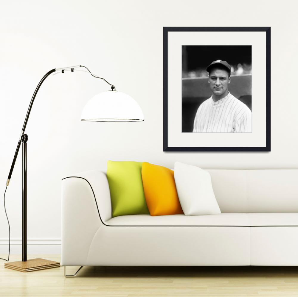 """""""Lou Gehrig looking forward&quot  by RetroImagesArchive"""