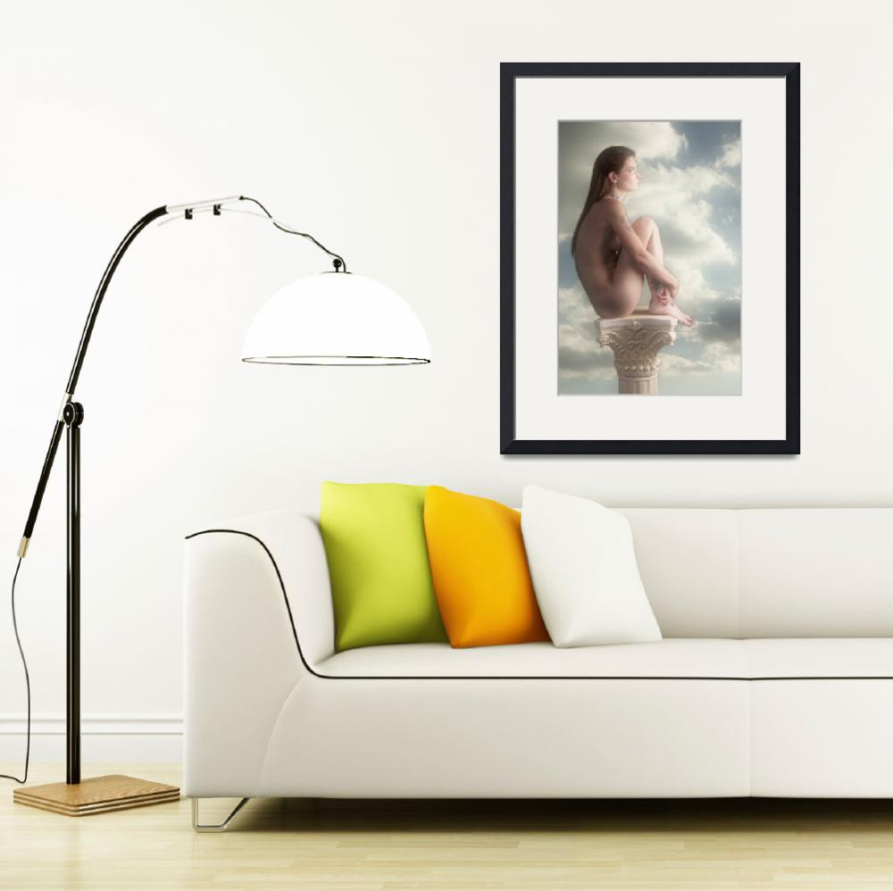 """""""Thoughtful Nude In the Clouds Nude5038.2""""  (2013) by KendreeMiller"""