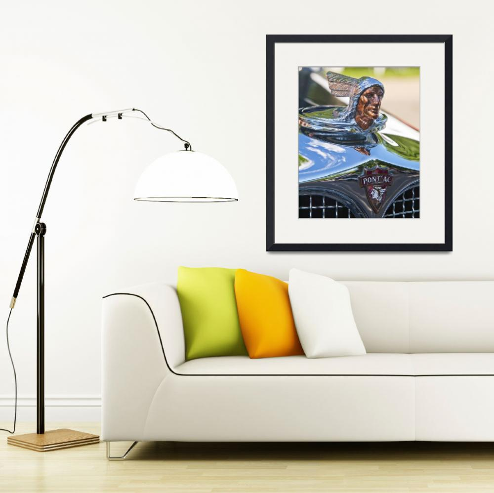 """""""1927 Pontiac Chief with sky reflections&quot  (2012) by janesprints"""