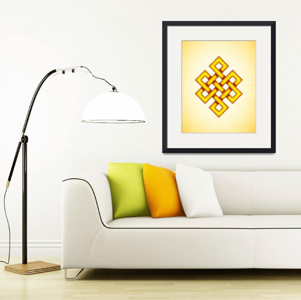 """Endless Knot - Yellow&quot  by dcz"