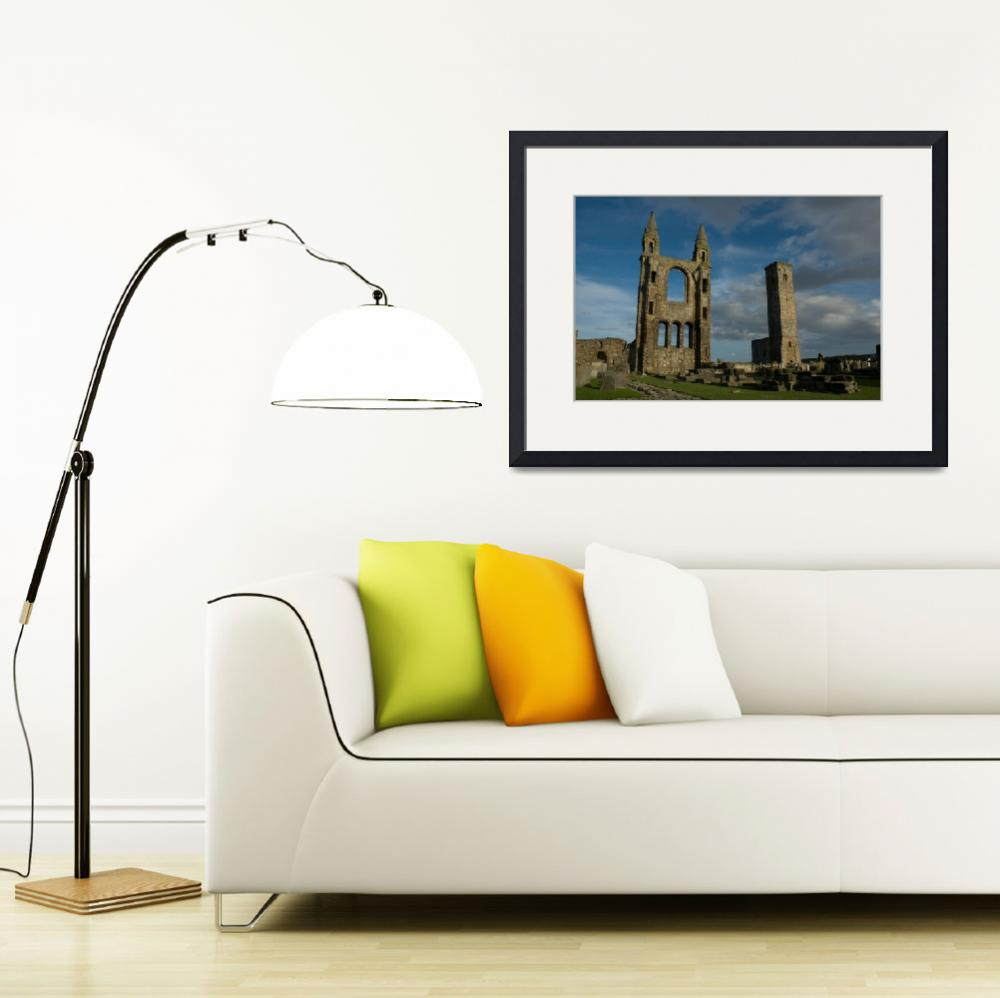 """""""St. Andrews Cathedral ruins Scotland&quot  (2004) by Roadtripphoto"""