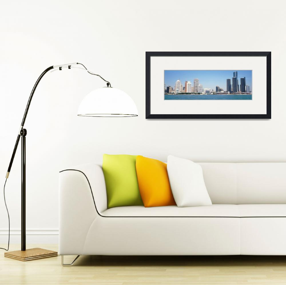 """""""Skyline Detroit MI&quot  by Panoramic_Images"""