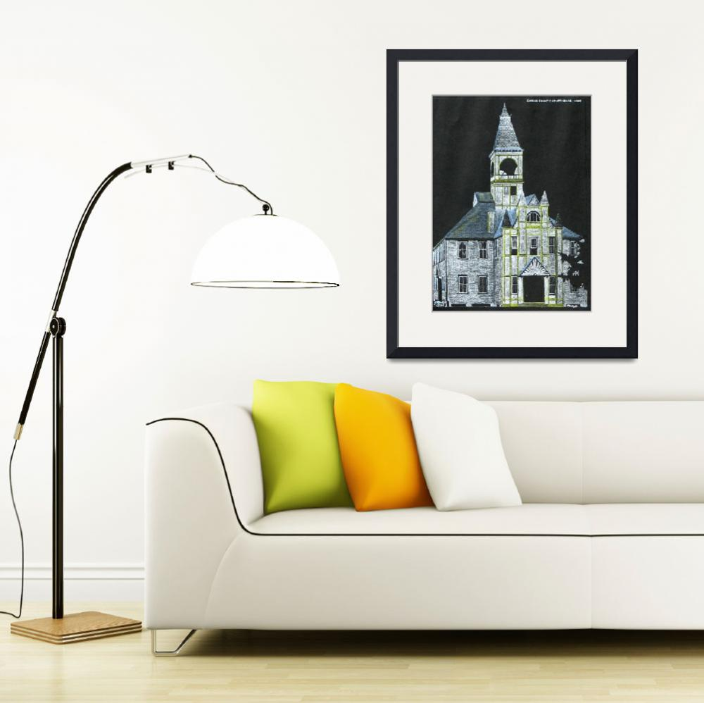 """""Citrus County Courthouse 1900"" Original Drawing&quot  (2006) by marnold"