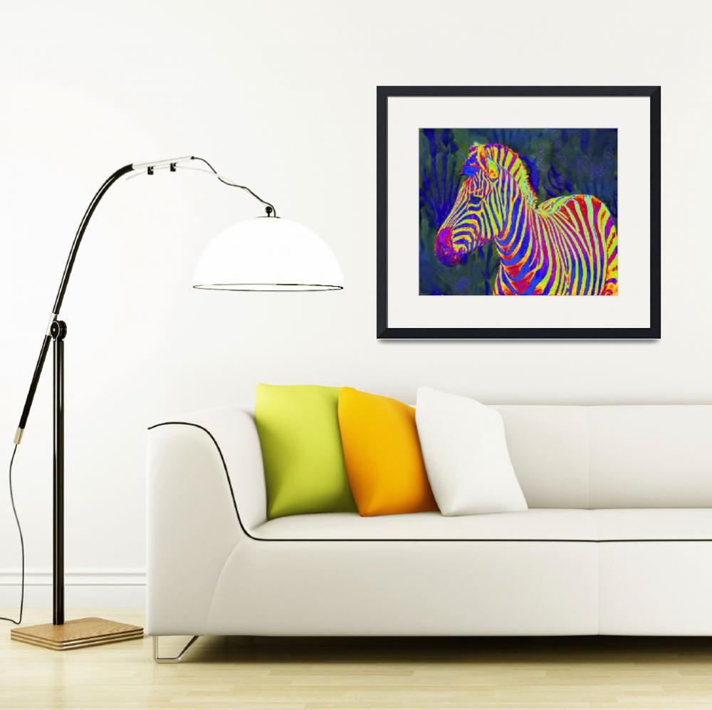 """one more pyschedelic zebra&quot  (2011) by pietrastone"