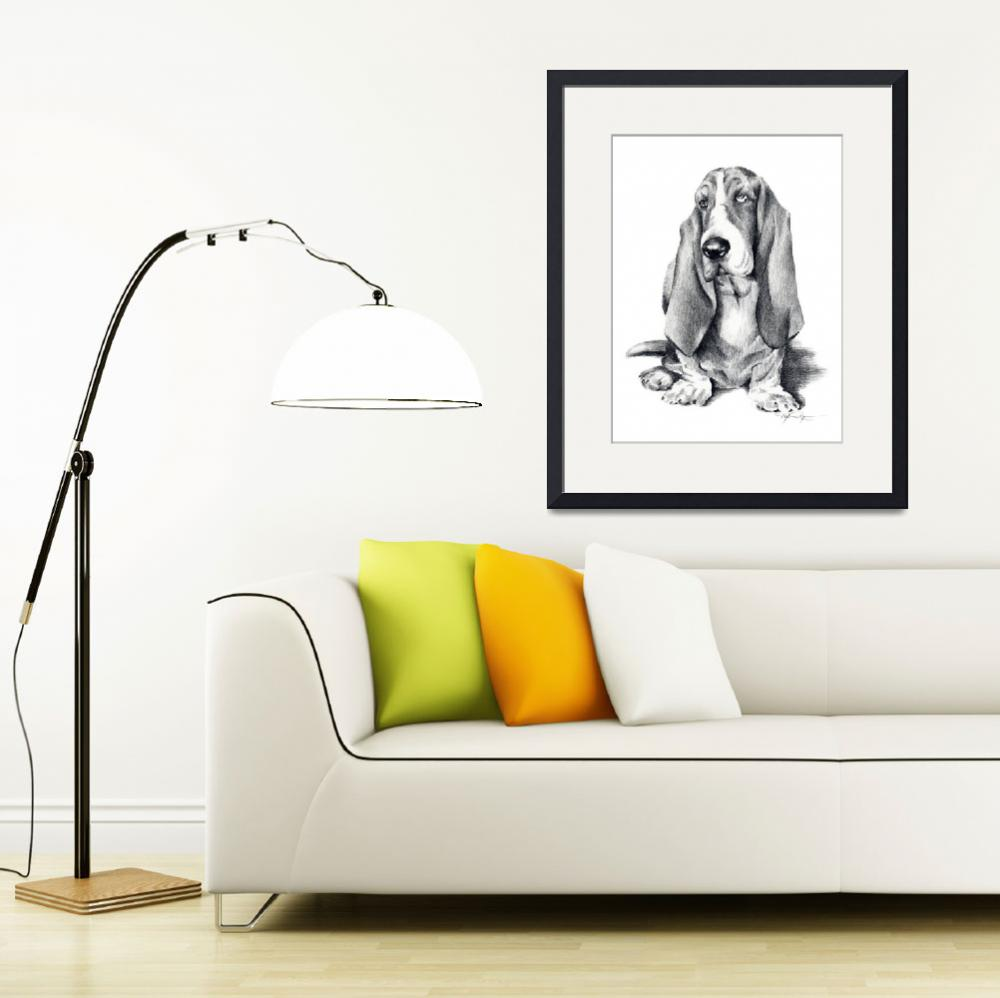 """Basset Hound&quot  (2017) by k9artgallery"