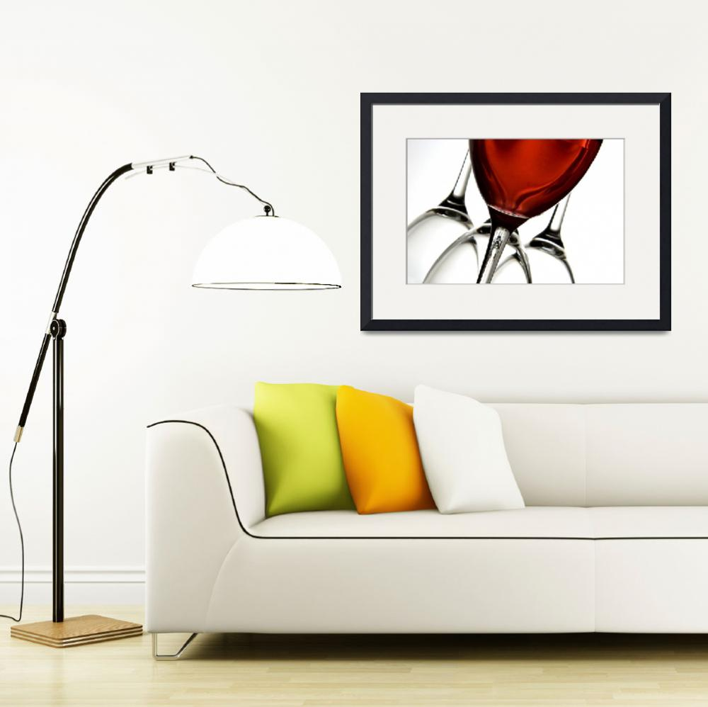 """""""Rose Wine Abstract&quot  by landscape"""