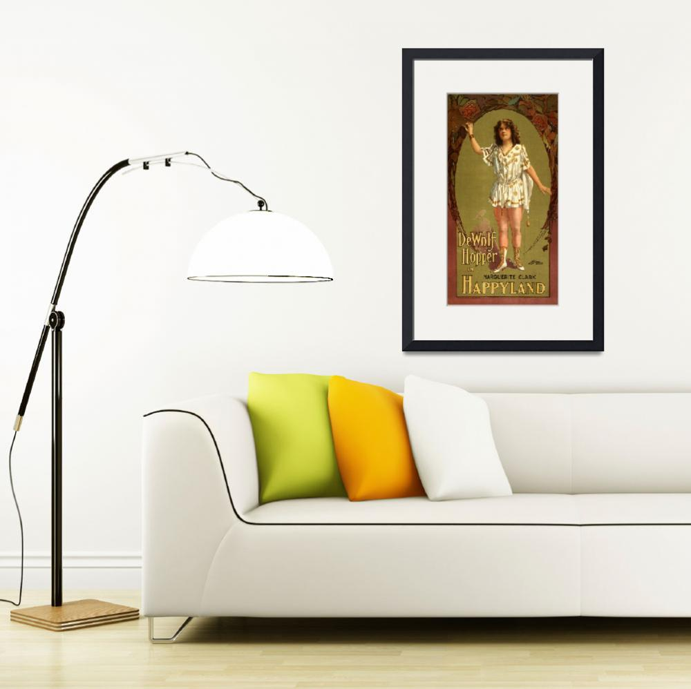 """""""Vintage Theatrical Poster Framed Print""""  by buddakats1"""