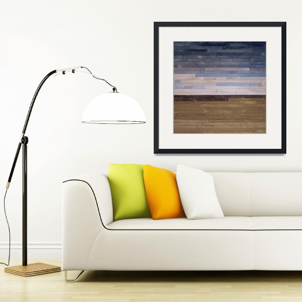 """""""Reclaimed Wood Abstract Landscape&quot  (2012) by LisaKDesigns"""