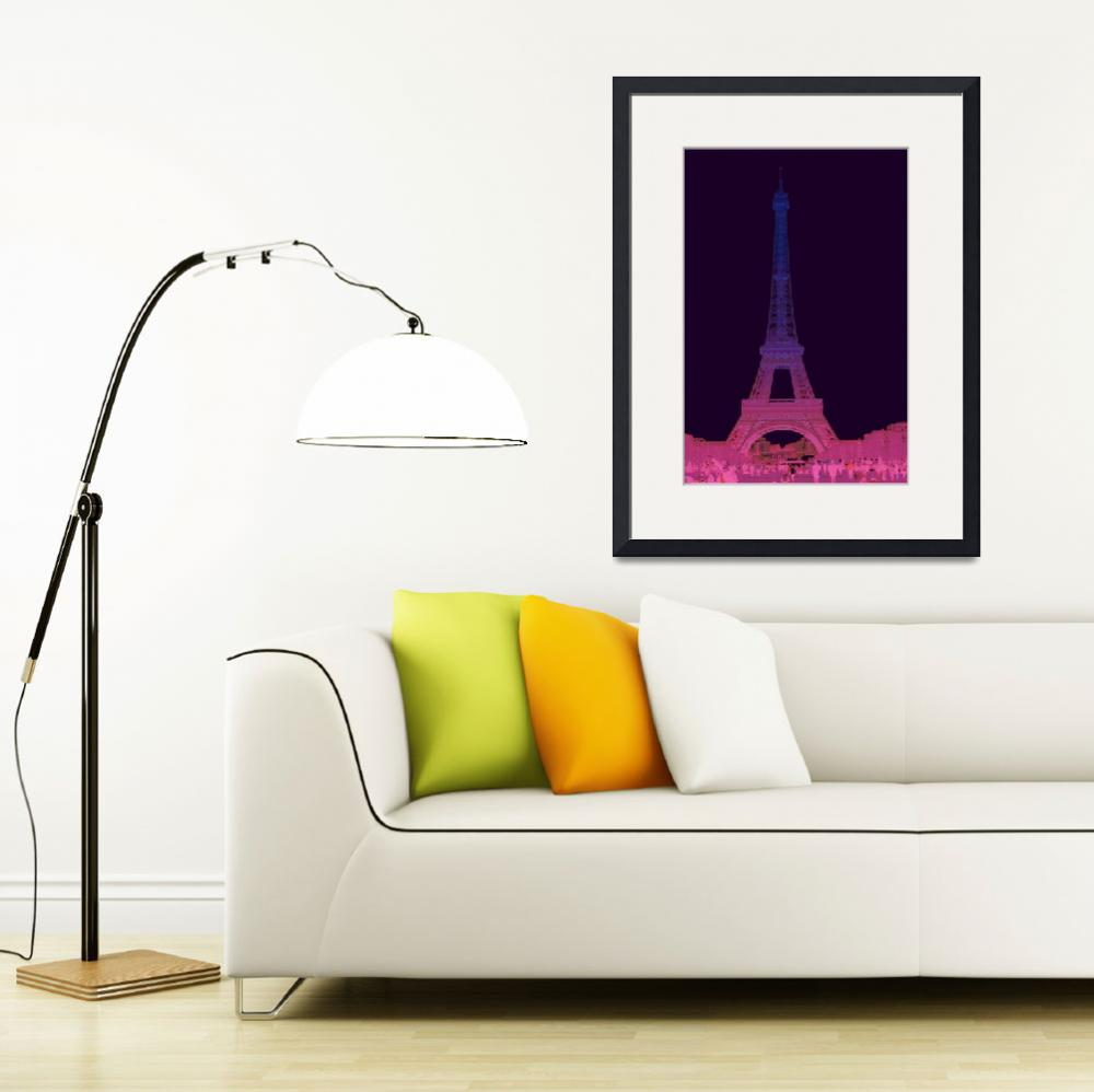 """Eiffel Tower by Night""  (2016) by CoraNiele"