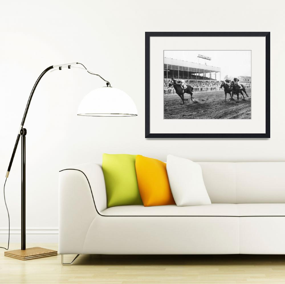 """Continuous Count Vintage Horse Racing&quot  by RetroImagesArchive"