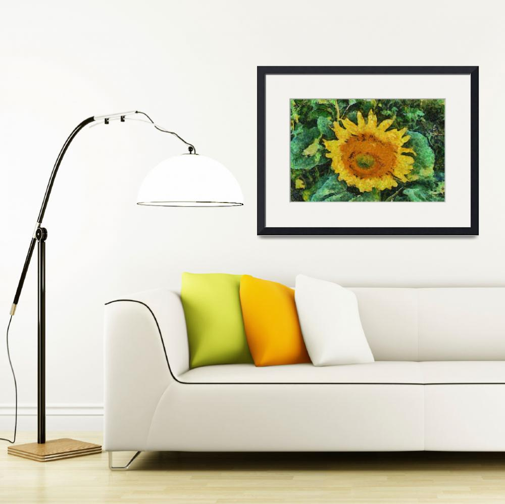 """""""Sunflower digital painting&quot  (2014) by laly_sb"""