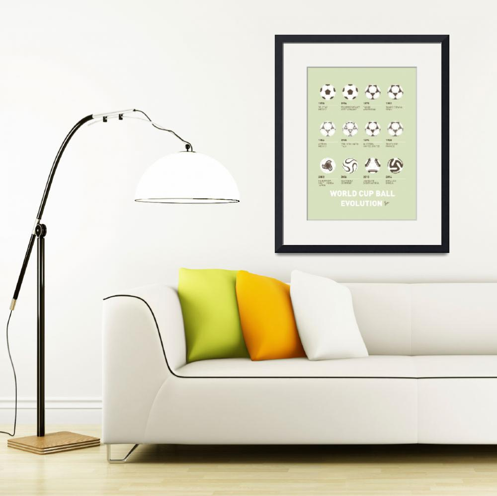 """""""My Evolution Soccer Ball minimal poster&quot  by Chungkong"""