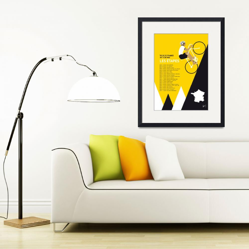 """""""MY TOUR DE FRANCE MINIMAL POSTER 2014-ETAPES&quot  by Chungkong"""
