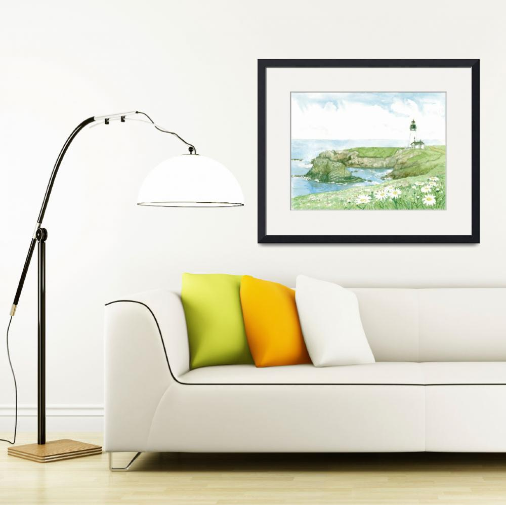 """""""Yaquina Head Lighthouse&quot  (2010) by ClotheslineArt"""