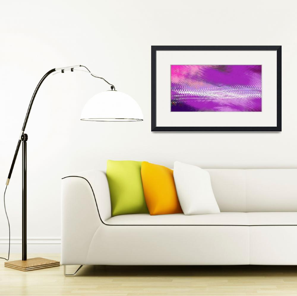 """ORIGINAL FINE ART DIGITAL ABSTRACT GALAXIE VIOLET&quot  by grl"