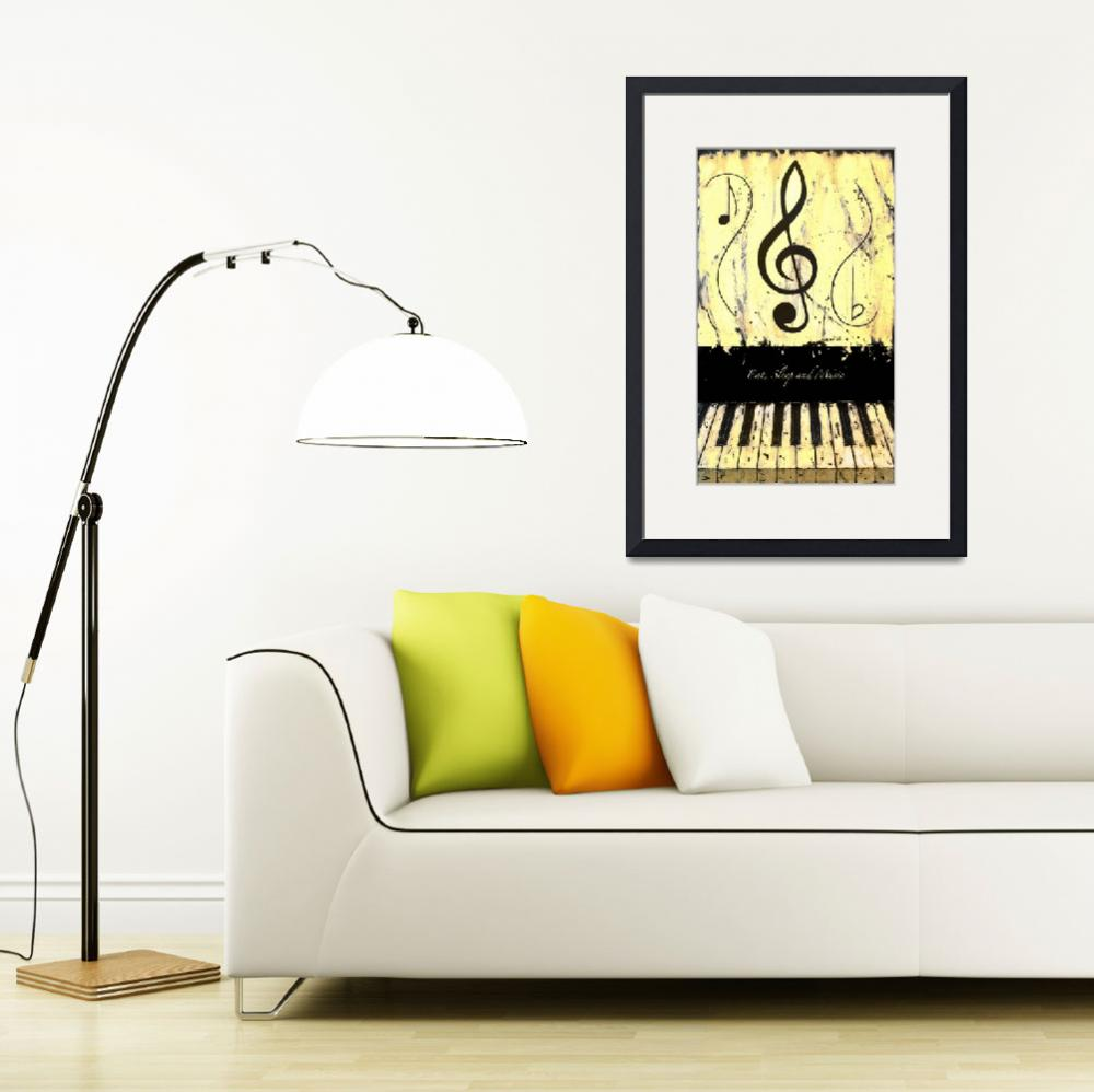 """""""Eat Sleep and Music Yellow&quot  by waynecantrell"""