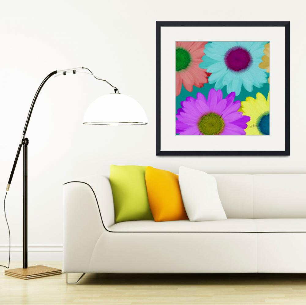 """Oversize Daisies Two""  (2012) by RuthPalmer"
