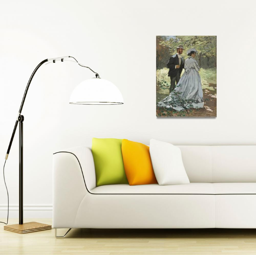 """""""Bazille and Camille by Claude Monet""""  by FineArtClassics"""